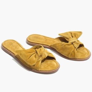 Madewell | Nadia Half Bow Slide Sandals 8.5 Yellow